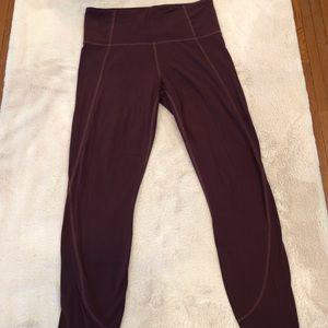 Athleta Burgundy Leggings, Size S